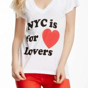 Wildfox NYC is for Lovers White Tee Shirt Size L